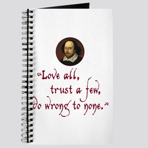 Love all, trust a few Journal