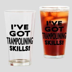 Trampolining Skills Designs Drinking Glass