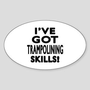 Trampolining Skills Designs Sticker (Oval)