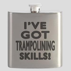 Trampolining Skills Designs Flask