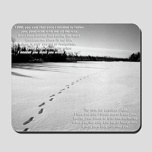 Footprints Mousepad (Edited Text)