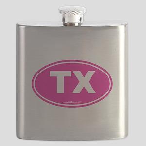 Texas TX Euro Oval Flask