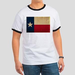 Texas State Flag VINTAGE Ringer T