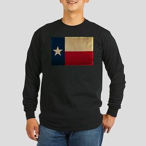 Texas State Flag VINTAGE Long Sleeve Dark T-Shirt