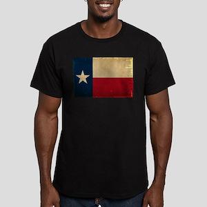 Texas State Flag VINTA Men's Fitted T-Shirt (dark)