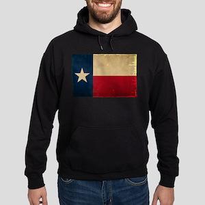 Texas State Flag VINTAGE Hoodie (dark)