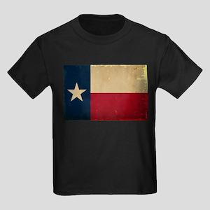 Texas State Flag VINTAGE Kids Dark T-Shirt