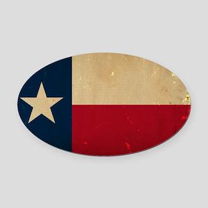 Texas State Flag VINTAGE Oval Car Magnet