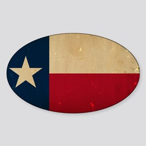 Texas State Flag VINTAGE Sticker (Oval)
