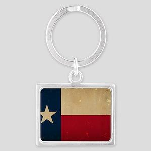 Texas State Flag VINTAGE Landscape Keychain