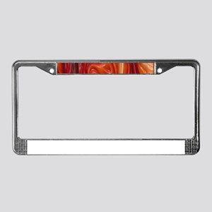 Wax, red License Plate Frame