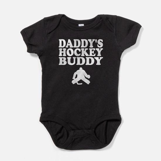 Daddys Hockey Buddy Baby Bodysuit