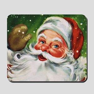Vintage Santa Face 1 Mousepad