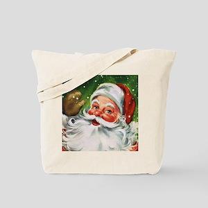 Vintage Santa Face 1 Tote Bag