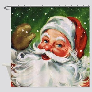 Vintage Santa Face 1 Shower Curtain