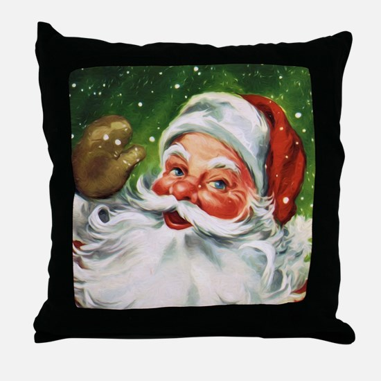 Vintage Santa Face 1 Throw Pillow
