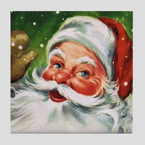 Vintage Santa Face 1 Tile Coaster