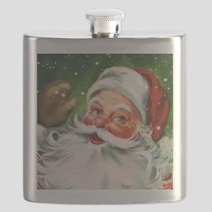 Vintage Santa Face 1 Flask