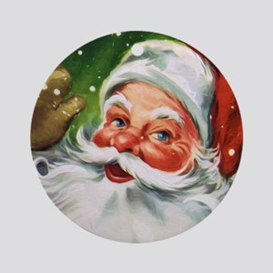 Vintage Santa Face 1 Round Ornament