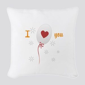 Love I Heart You Woven Throw Pillow