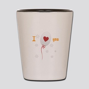 Love I Heart You Shot Glass