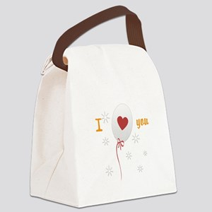Love I Heart You Canvas Lunch Bag