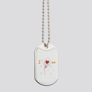 Love I Heart You Dog Tags