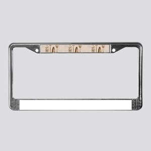 mens barber License Plate Frame