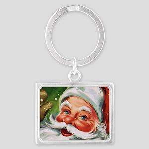 Vintage Santa Face 1 Keychains
