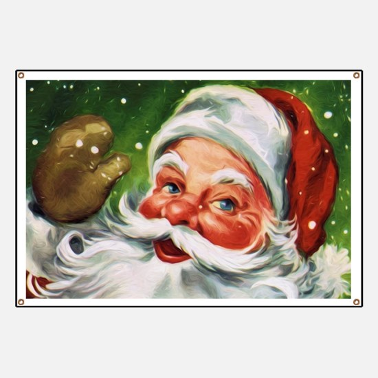 Vintage Santa Face 1 Banner