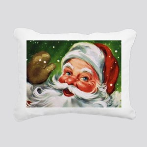 Vintage Santa Face 1 Rectangular Canvas Pillow