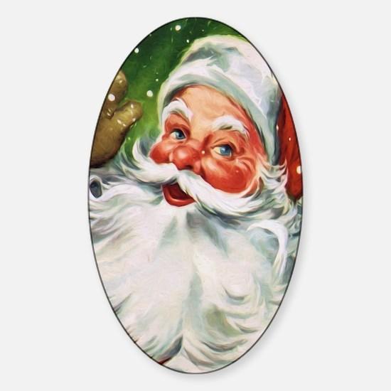 Vintage Santa Face 1 Decal