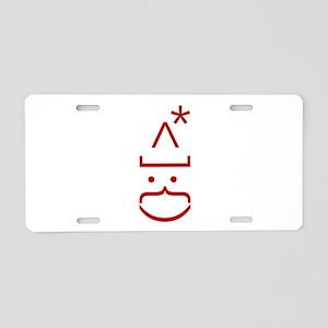Geek ASCII Art Santa | Chri Aluminum License Plate