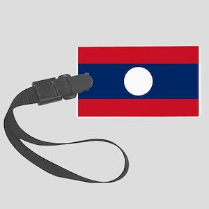 Laos Flag Large Luggage Tag