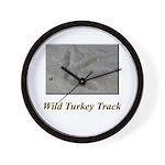 Wild Turkey Track Wall Clock
