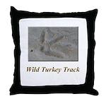 Wild Turkey Track Throw Pillow