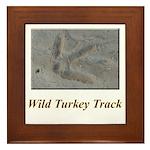 Wild Turkey Track Framed Tile