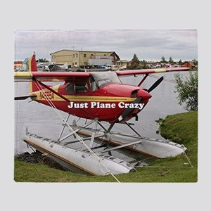 Just plane crazy: float plane 22 Throw Blanket