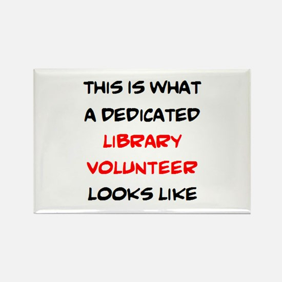 awesome library volunteer Rectangle Magnet