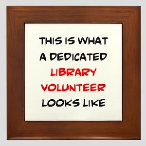 awesome library volunteer Framed Tile