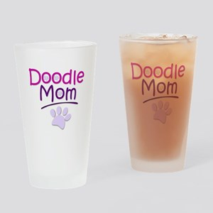 Doodle Mom Drinking Glass