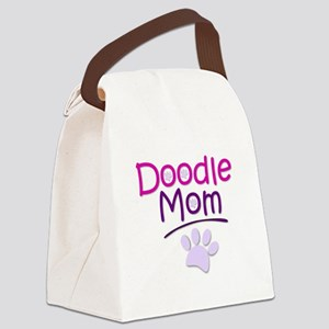 Doodle Mom Canvas Lunch Bag