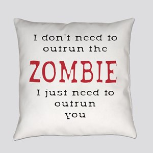 Outrun The Zombie 3 Everyday Pillow