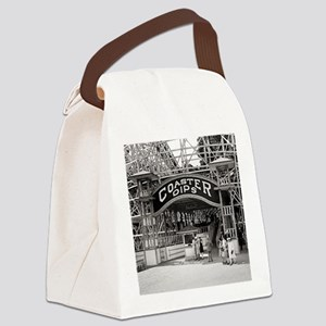 Wooden Roller Coaster, 1926 Canvas Lunch Bag