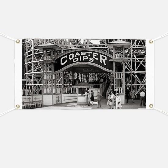 Wooden Roller Coaster, 1926 Banner