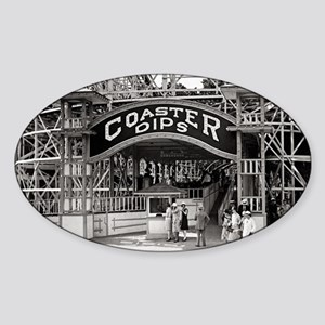 Wooden Roller Coaster, 1926 Sticker (Oval)