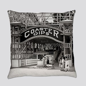 Wooden Roller Coaster, 1926 Everyday Pillow