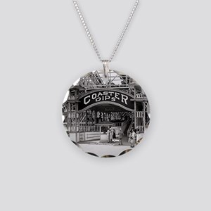 Wooden Roller Coaster, 1926 Necklace Circle Charm
