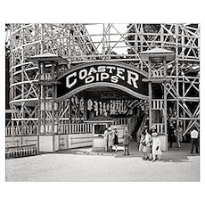 Wooden Roller Coaster, 1926 Poster