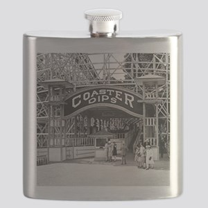Wooden Roller Coaster, 1926 Flask